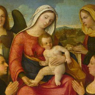 성모와 아기 예수 및 성인들과 기부자들