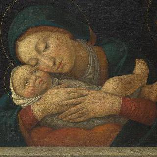 성모와 아기 예수 및 네 성인
