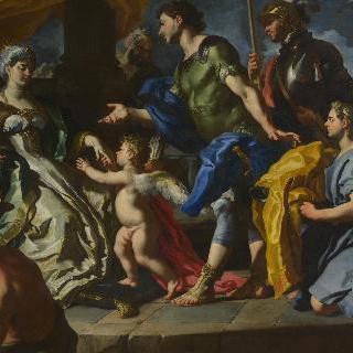 아이네이아스와 아스카니우스로 위장한 에로스를 접견하는 디도