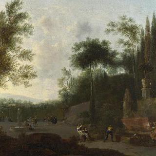 이탈리아 정원의 인물들