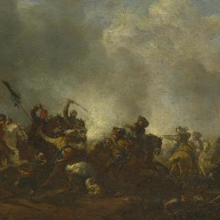 보병대를 공격하는 기병대