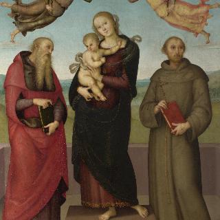 성모와 아기 예수, 성 히에로니무스와 성 프란체스코