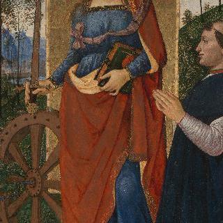알렉산드리아의 성 카타리나와 기부자