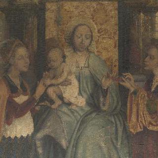 성모와 아기 예수, 성 바르바라와 성 카타리나