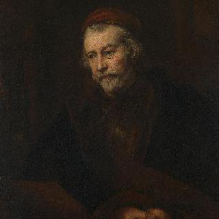 성 바오로의 모습을 한 나이 든 남자