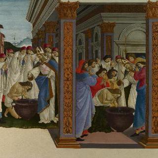 성 제노비우스의 젊은 시절을 그린 네 장면