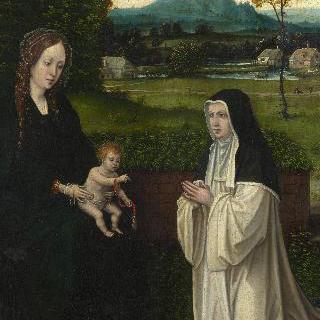 성모와 아기 예수 및 시토회 수녀
