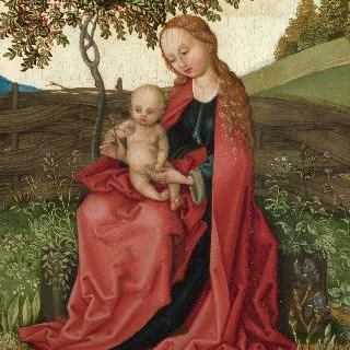 정원에 있는 성모와 아기 예수