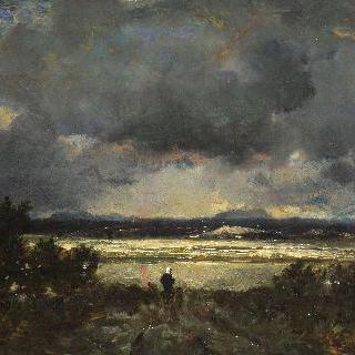 오베르뉴의 일몰