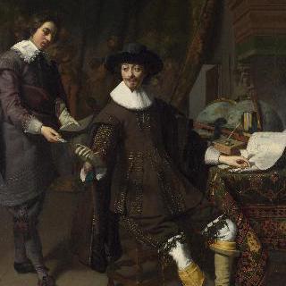 콘스탄테인 하위헌스와 그의 서기의 초상