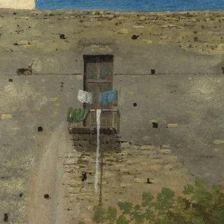 나폴리의 건물벽