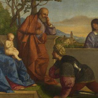 아기 그리스도와 성모에게 경배하는 무사