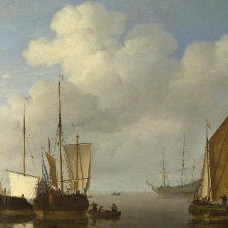 무풍 속의 네덜란드 선박들
