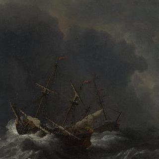 강풍 속의 세 척의 배