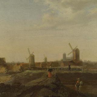 도르드레흐트의 모습이 보이는 풍경