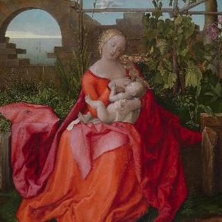 성모와 아기 예수 (붓꽃과 함께 있는 성모)