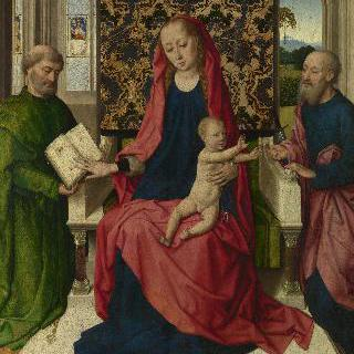 성모와 아기 예수, 성 베드로와 성 바오로