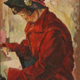 빨간 코트의 소녀