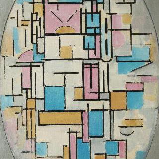 색상면들이 있는 타원형의 구성 1