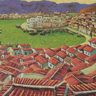 통영항이 보이는 동피랑 마을