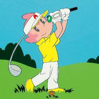 골프를 치는 아토마우스