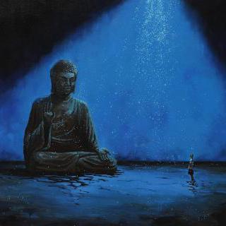 Night Rain-Buddah