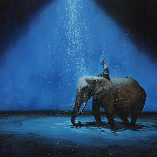Night Rain-Elephant