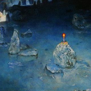 바위와 촛불