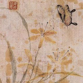 표암선생 담채화훼첩 - 붓꽃과 나비