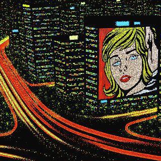 Dot city lights