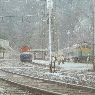 눈오는 철암역