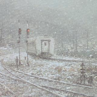 통리역을 나서는 열차