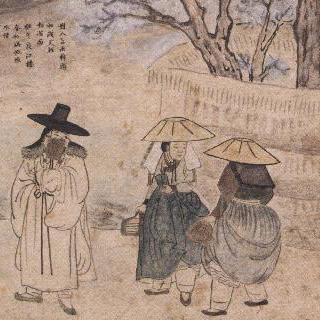 성협풍속화첩 - 노상풍정