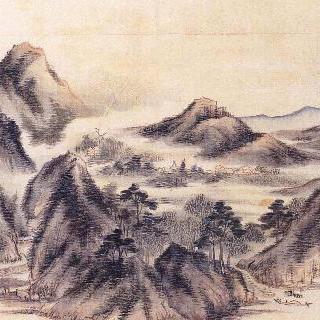 방고산수첩 - 연강운산