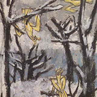 나무와 노란새