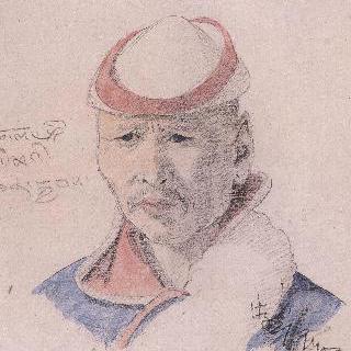 몽고족남성의 얼굴