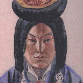 몽고족부인의 얼굴