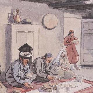 위구르인들의 식사