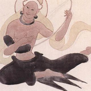 현악비천(커쯔얼석굴원15호벽화모사도)