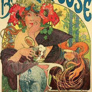 '뫼즈 지방 맥주' 홍보 포스터 재제작(1897) : 포스터의 대가들의 전면삽화
