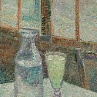 압생트와 카페 테이블
