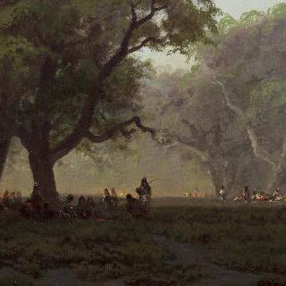 요세미티 계곡에서의 인디언 집회