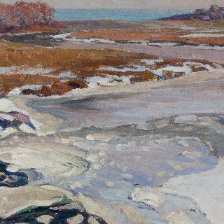 바다에 섞이는 강의 겨울