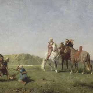 알제리에서의 매 사냥