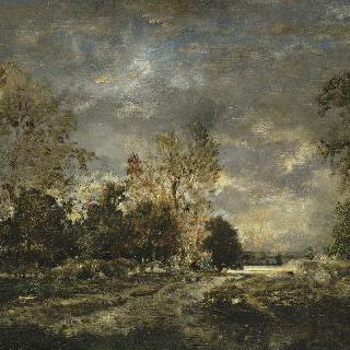 퐁텐블로 숲의 길, 폭풍치는 풍경
