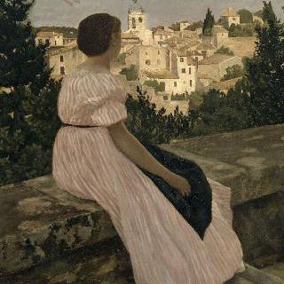 분홍색 원피스 (카스텔노 르 레즈 (에로)의 풍경)