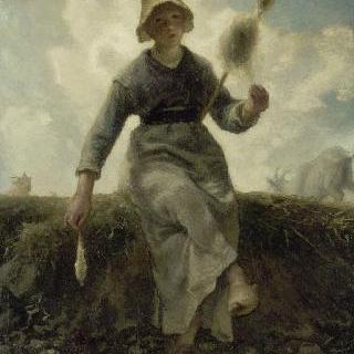 실 잣는 여인, 오베르뉴 지방의 염소지기