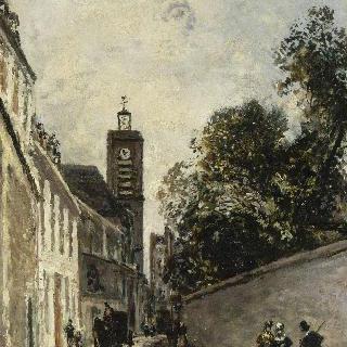 파리의 아베-드-레페 거리와 생-자크-뒤-오-파 교회