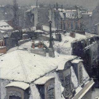 지붕 위의 풍경 (눈온뒤), 눈 내린 지붕