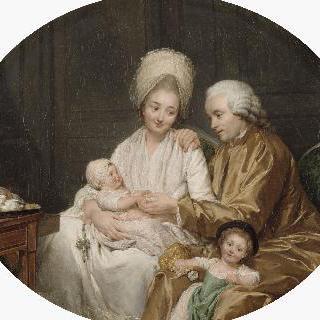 마르크 에티엔 카트르메르와 그의 가족의 초상